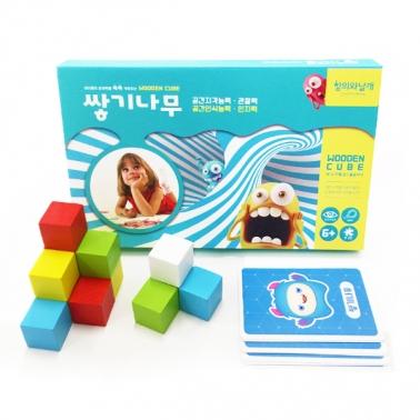 (네모세모) 5색 쌓기나무 25조각 카드+보관케이스