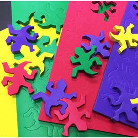 (네모세모) 테셀레이션 도마뱀 퍼즐 (4색판 /132pcs)