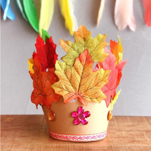 (더펀즈) 가을 낙엽 왕관 만들기_1set