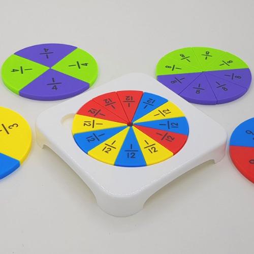 (네모세모) 원형분수학습기 / 분수와 소수 / 파우치증정
